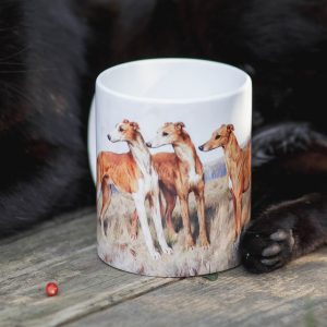 Kubek Greyhound Malarstwo Vintage