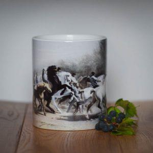 Kubek konie vintage