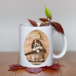 Kubek Beagle Retro Portret