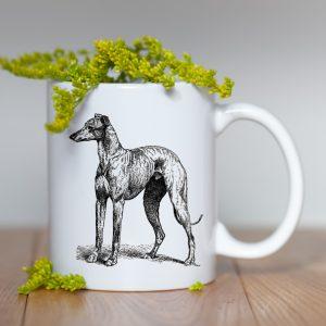 Kubek Greyhound Szkic Vintage