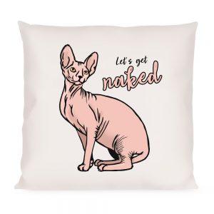 Poduszka Kot Sfinks Kanadyjski