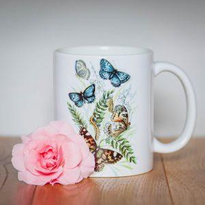Kubek Motyl Modraszek i Rusałka