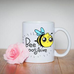 Kubek z pszczołą Bee Positive pozytywny