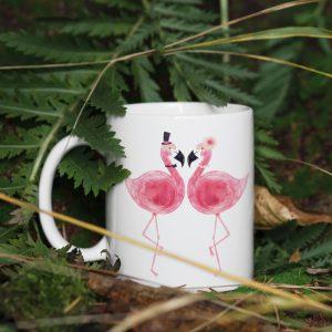 Kubek Zakochane Flamingi