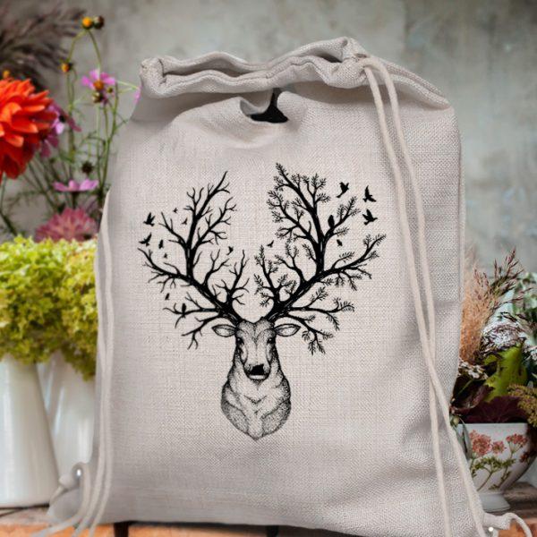 Plecak z jeleniem