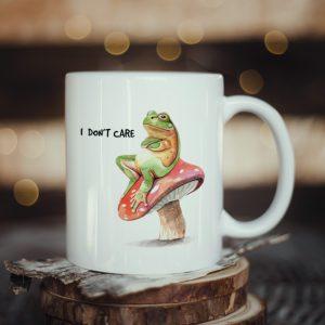 Kubek z żabą I Don't Care