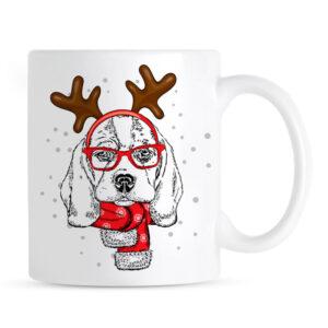 Świąteczny Kubek Beagle