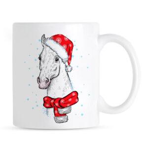 Świąteczny Koń Kubek pod Choinkę