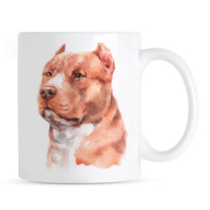 Kubek Pit Bull Terrier Portret Malowany