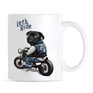 Kubek z mopsem Let's Ride