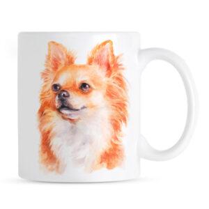 Kubek Chihuahua Długowłosa Portret