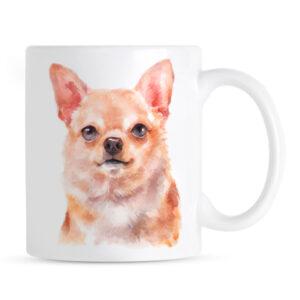Kubek Chihuahua Portret Akwarelowy