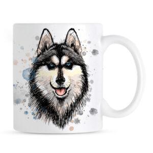Kubek Siberian Husky Malowany