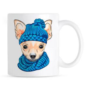 Kubek Chihuahua w Czapce